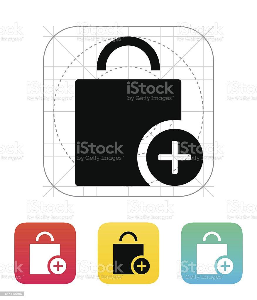 Handbag add goods icon. royalty-free stock vector art