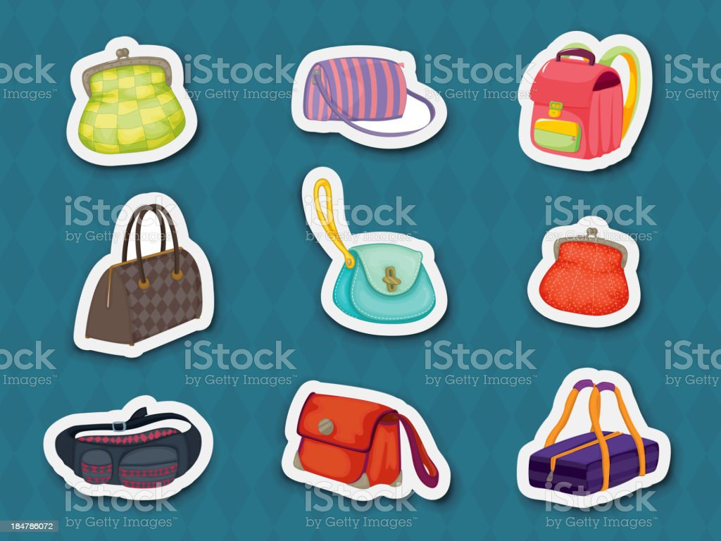 Handbag stickers royalty-free stock vector art