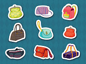 Handbag stickers