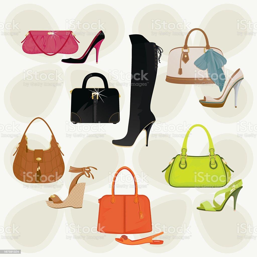 032066469a16a Handtaschen und Schuhe Lizenzfreies handtaschen und schuhe stock vektor art  und mehr bilder von clipart
