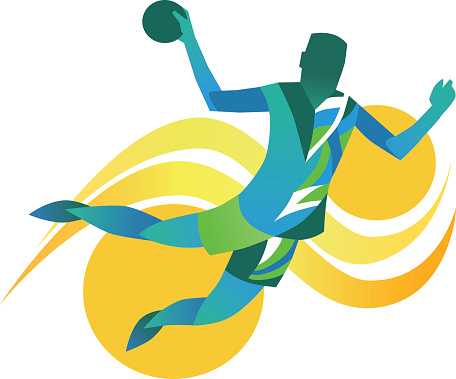 Handball Player - Abstract Illustration