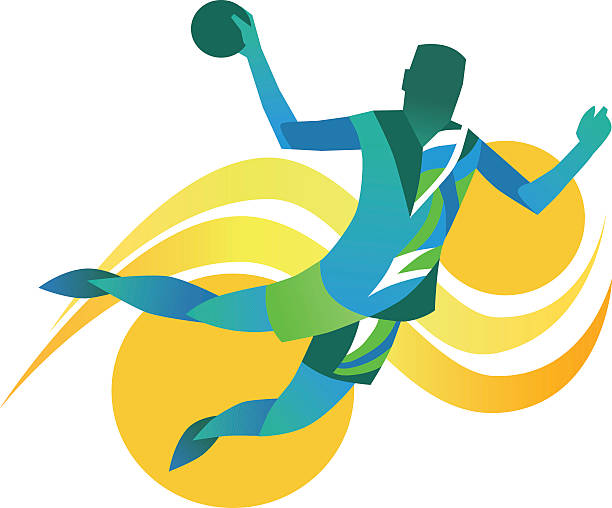 bildbanksillustrationer, clip art samt tecknat material och ikoner med handball player - abstract illustration - handboll