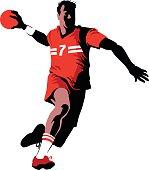 Handball Player in Attack - Team Sport