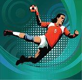 Handball Player to Score Goal - Sports Background