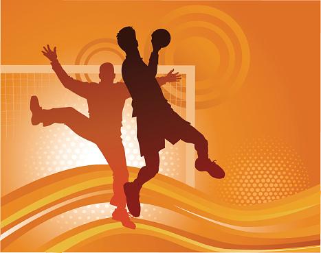 Handball Players - Attacking Goal