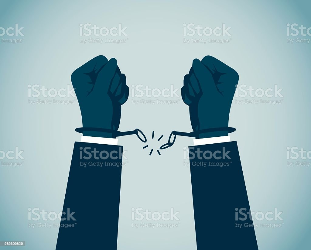 Handcuff vector art illustration