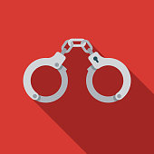 Handcuffs Flat Design Crime & Punishment Icon