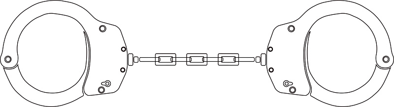 Handcuffs icon sign. Modern line art style.
