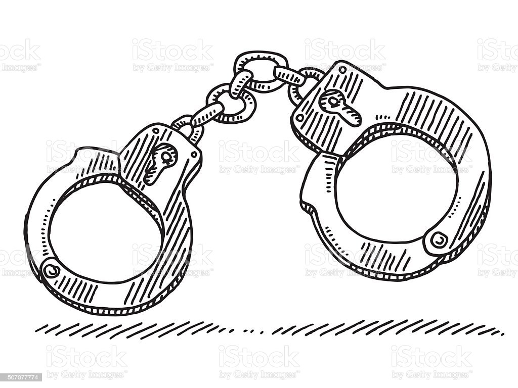 Line Art Converter Online : Handcuffs symbol drawing stock vector art more images of