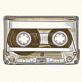 Hand-drawing audio cassette