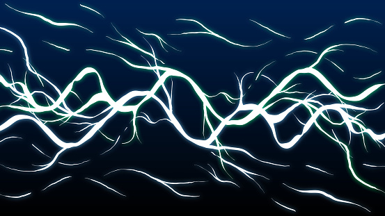 Hand-drawn abstract illustration - Lightning discharge.