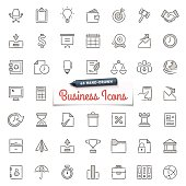 Large set of hand-drawn business icons. Only solid fills used. File format is EPS8. High resolution jpg included.