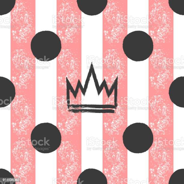 Handdrawn crown and polka dots on a striped background grunge sketch vector id914538362?b=1&k=6&m=914538362&s=612x612&h=nu3bnlcroxd jcupuahqduqc1ay 5vvwjbmvjkbnrjc=