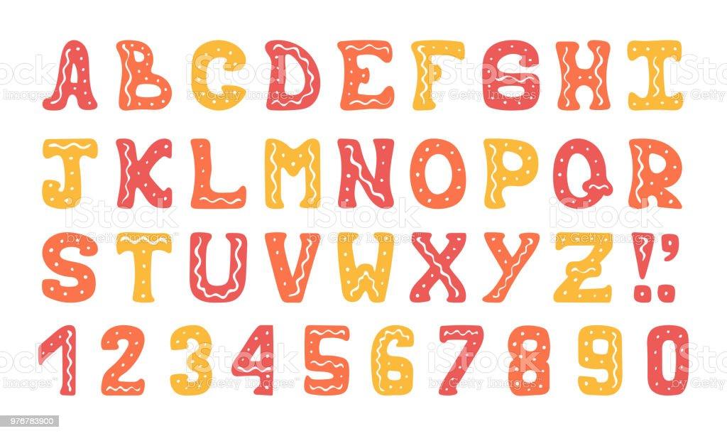 手描きかわいいカラフルなベクトル アルファベット文字体裁デザインの落書きを いたずらのベクターアート素材や画像を多数ご用意