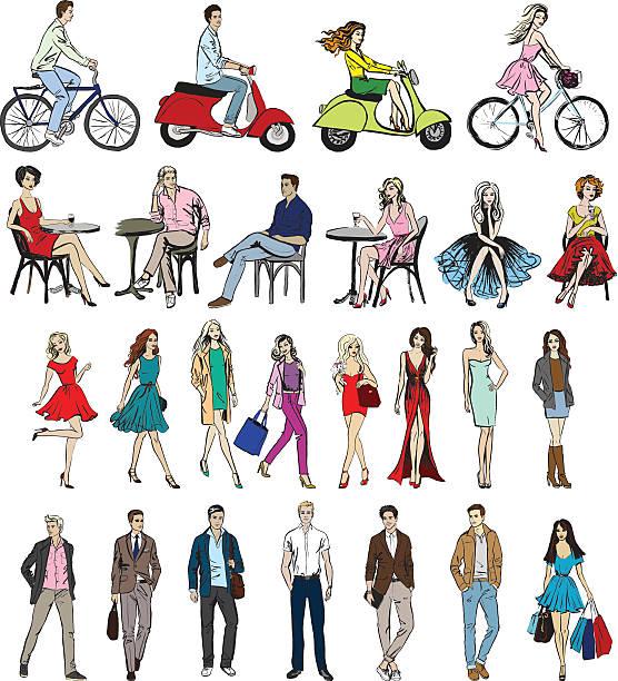 ilustraciones, imágenes clip art, dibujos animados e iconos de stock de mano que distintas personas - moda de hombre