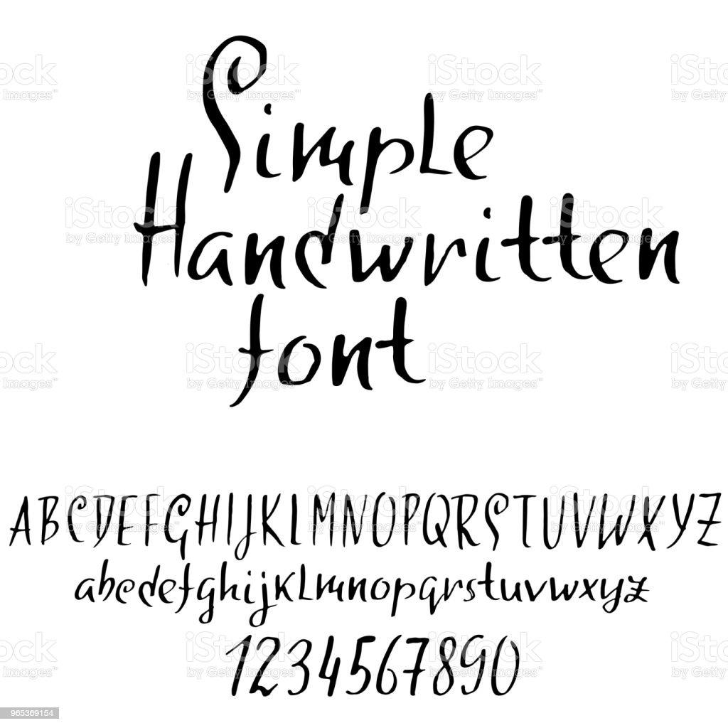 Handdrawn dry brush font. Modern brush lettering. Grunge style alphabet. Vector illustration. royalty-free handdrawn dry brush font modern brush lettering grunge style alphabet vector illustration stock vector art & more images of alphabet