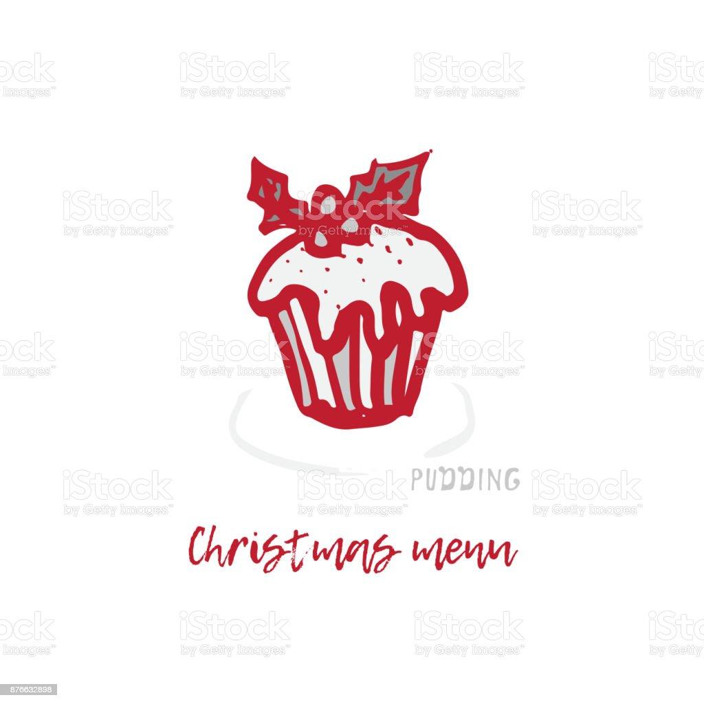 Ilustracion De Dibujado A Mano Fiestas Navidad Y Ano Nuevo Tarjeta