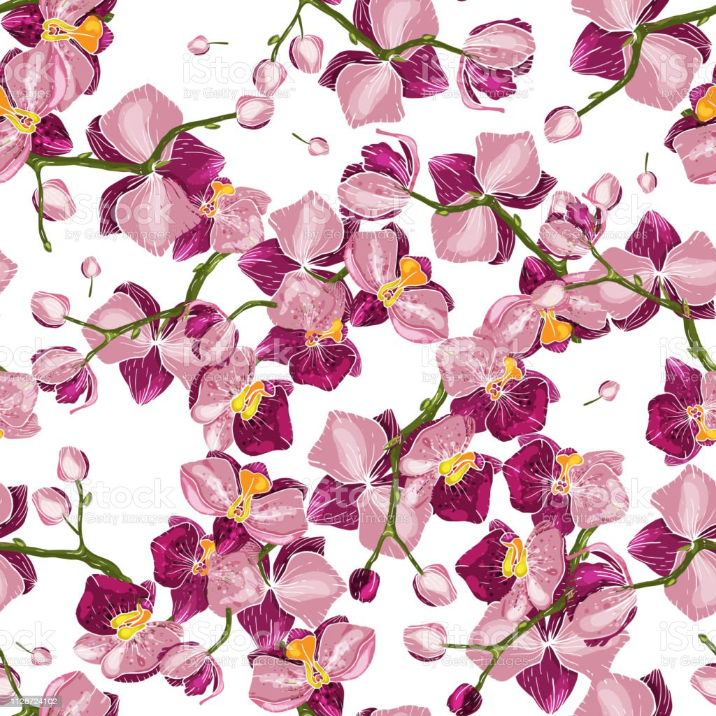 Handdrawn Floral Vector Illustration For Fashion Fabric