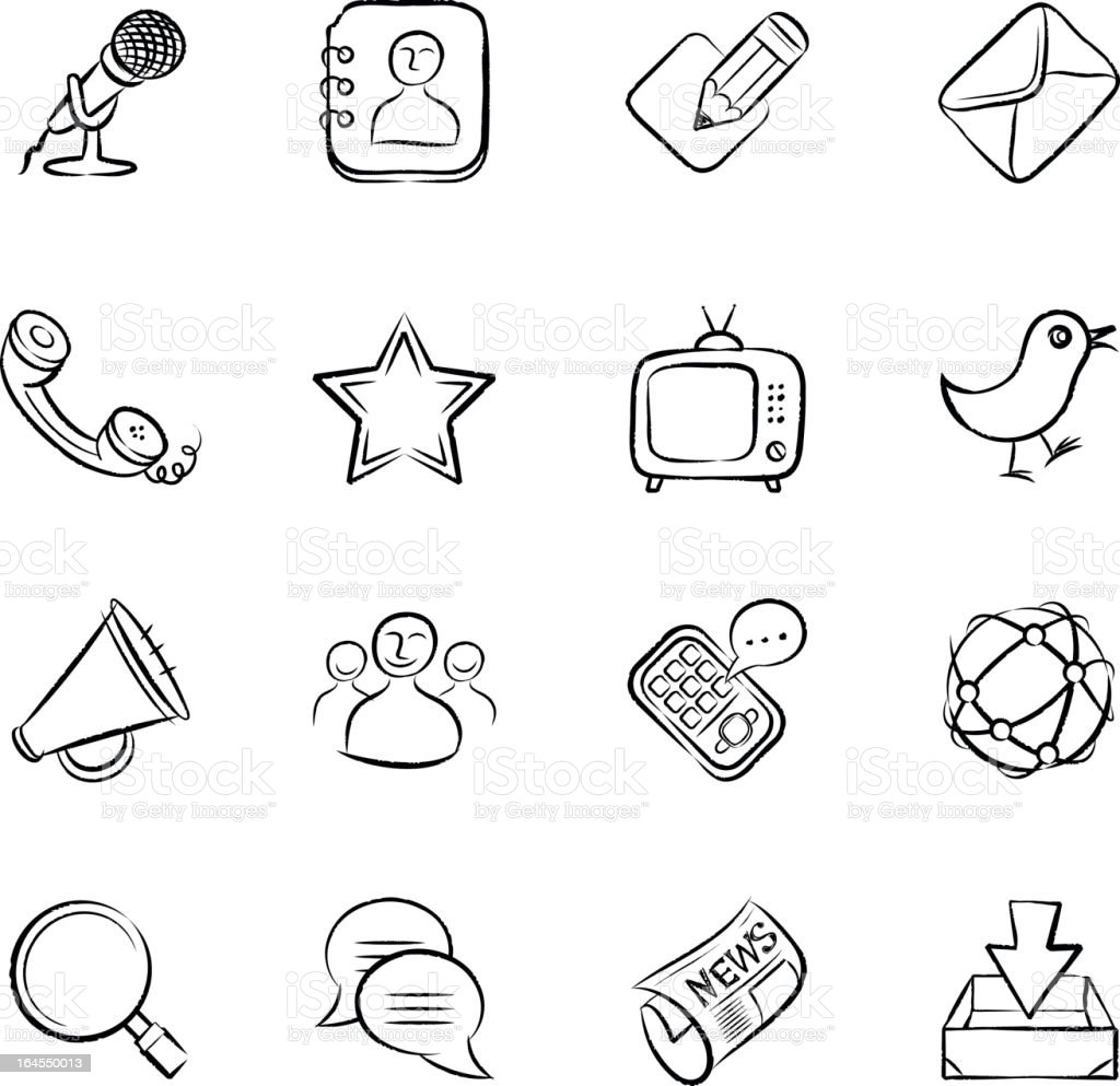 Ícones de comunicação - Royalty-free Agenda de Telefones arte vetorial