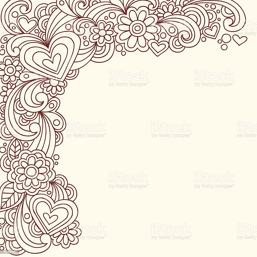 Hand-Drawn Henna Doodle royalty-free handdrawn henna doodle stock vector art & more images of abstract