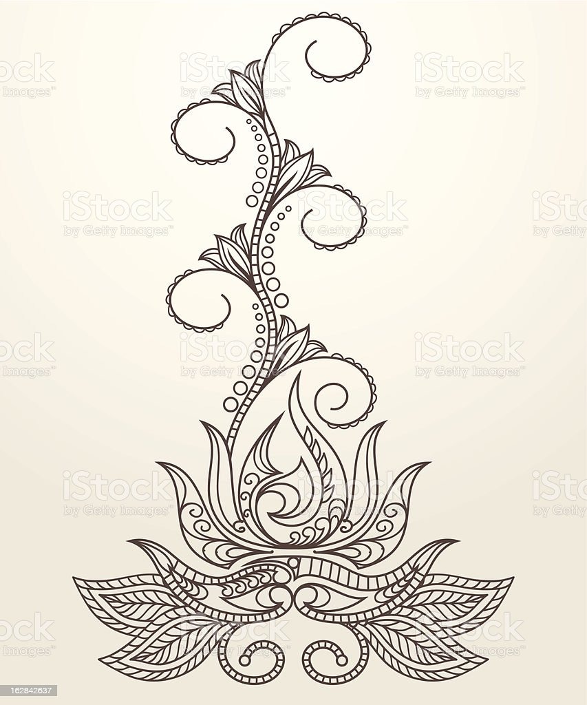 Handdrawn henna mehndi bstract lotus flower stock vector art more hand drawn henna mehndi bstract lotus flower royalty free handdrawn henna mehndi bstract izmirmasajfo Image collections