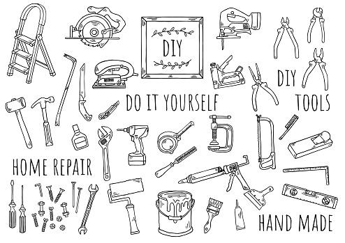 Hand-drawn illustration: DIY