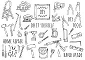 istock Hand-drawn illustration: DIY 1251547964