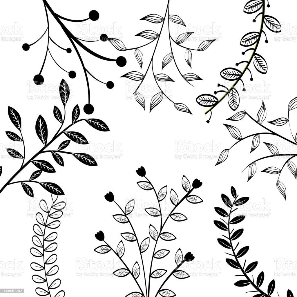 Ilustración de Diseño De Hojas Dibujadas A Mano y más Vectores ...