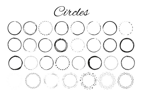 Handdrawn logo elements with circles. Design your own perfect logo. Handdrawn logo elements with  circles. Design your own perfect logo. Logotype templates. Logo design isolated on background and easy to use. Vector illustration circle stock illustrations