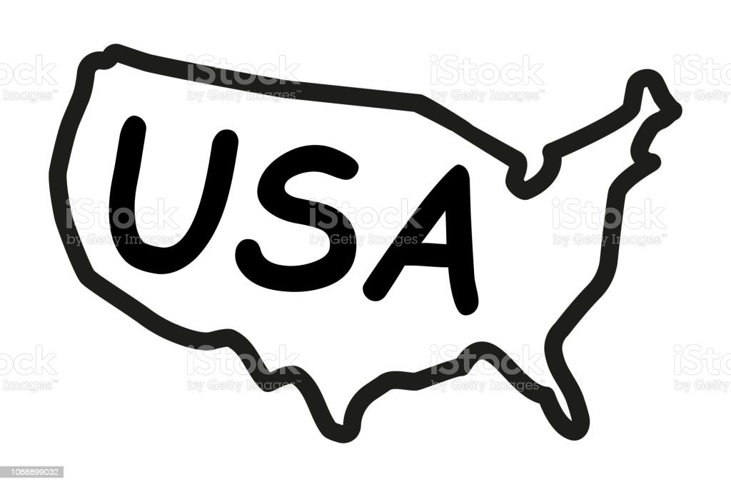 Handdrawn Map Of The United States Of America Stock Vector Art ...