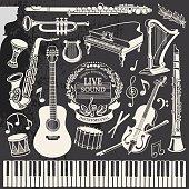 Hand-drawn Music Instruments