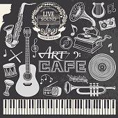 Hand-drawn Music Set