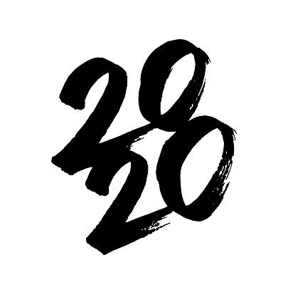 hand-drawn New Year's card 2020