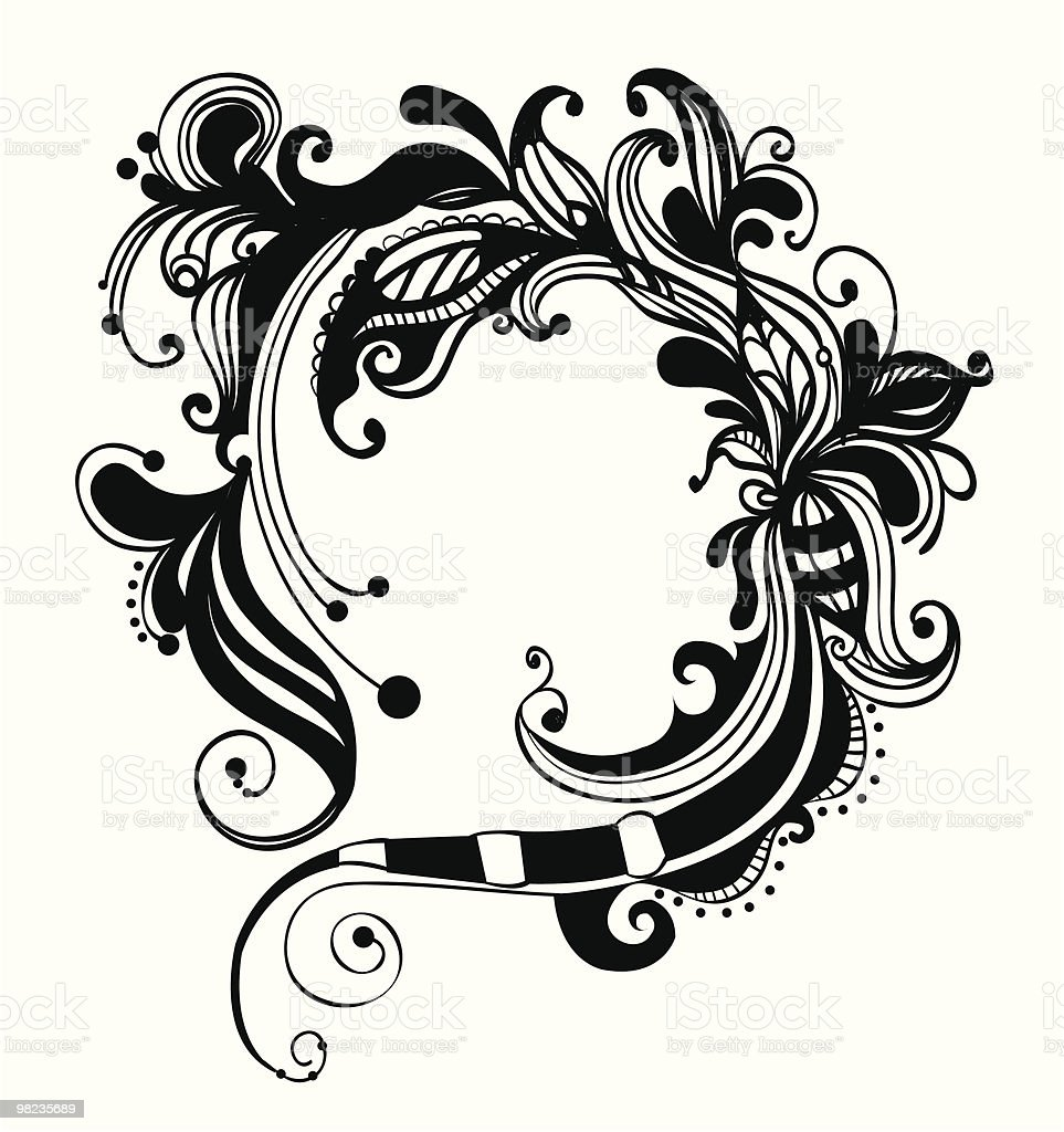 Hand-drawn ornamental frame royalty-free handdrawn ornamental frame stock vector art & more images of black and white
