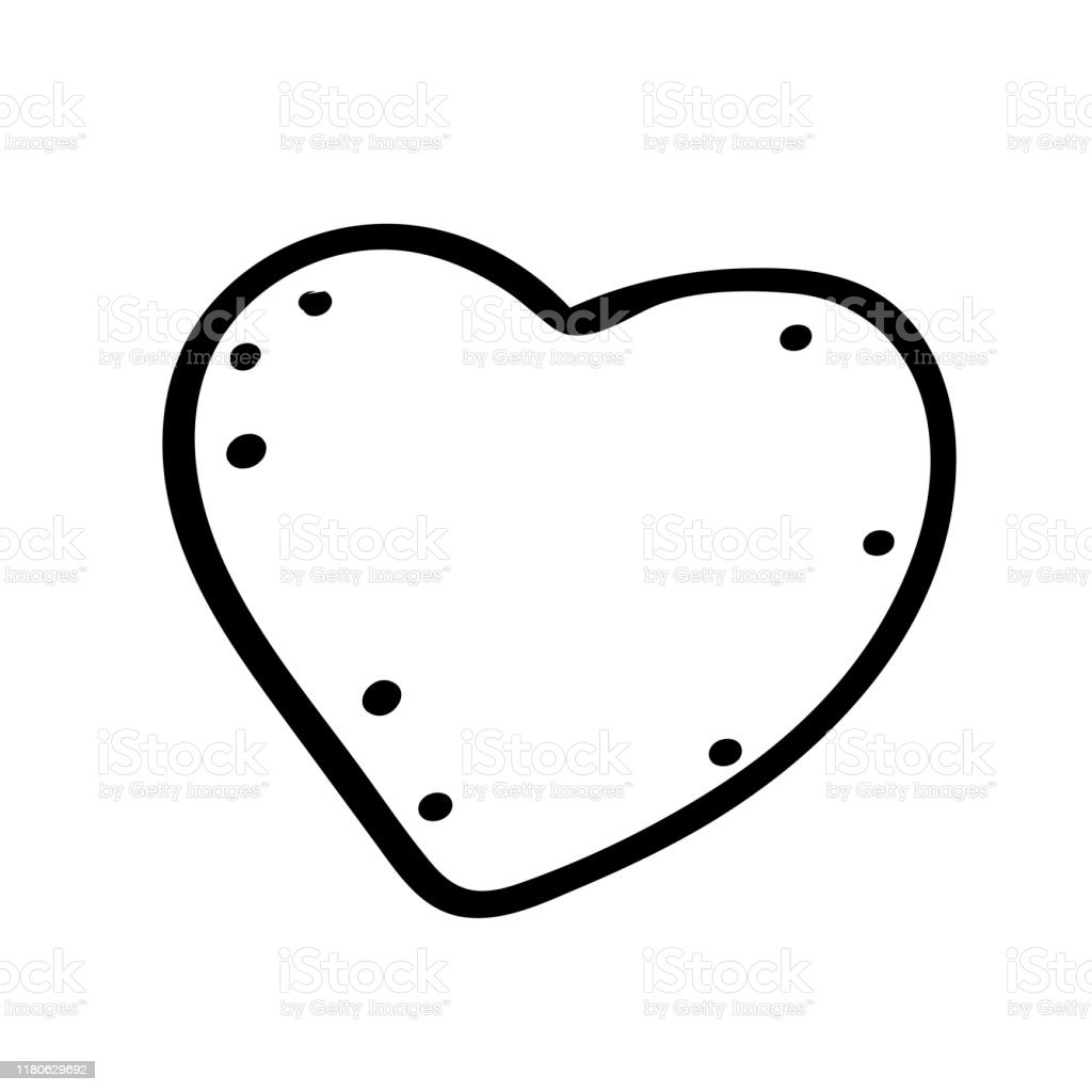 handdrawn painted heart vector element for your design coloring