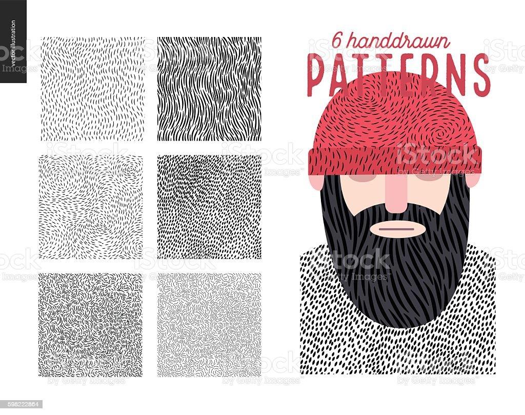 Ilustración de Handdrawn Patterns Set y más banco de imágenes de ...