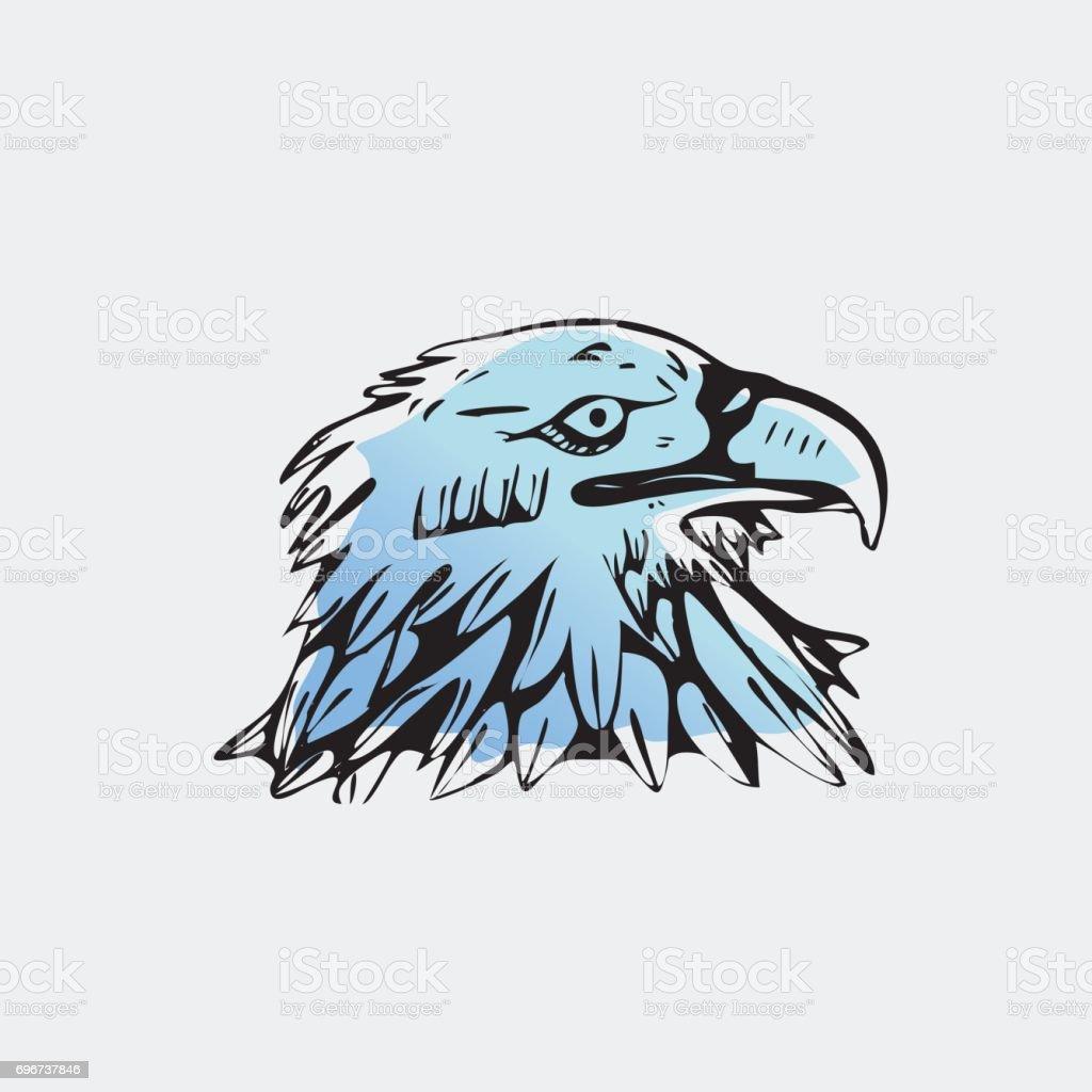 Ilustración de Gráficos Dibujados A Mano Lápiz Pájaro águila Halcón ...