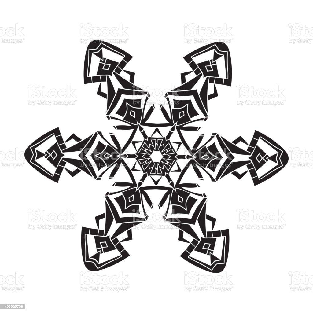 手描きの結晶の現実的なシルエットですブラックにホワイトの背景に