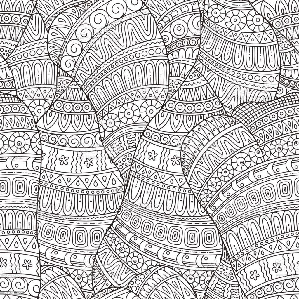 Hand-drawn seamless pattern of abstract geometric elements. handdrawn seamless pattern of abstract geometric elements - stockowe grafiki wektorowe i więcej obrazów abstrakcja royalty-free