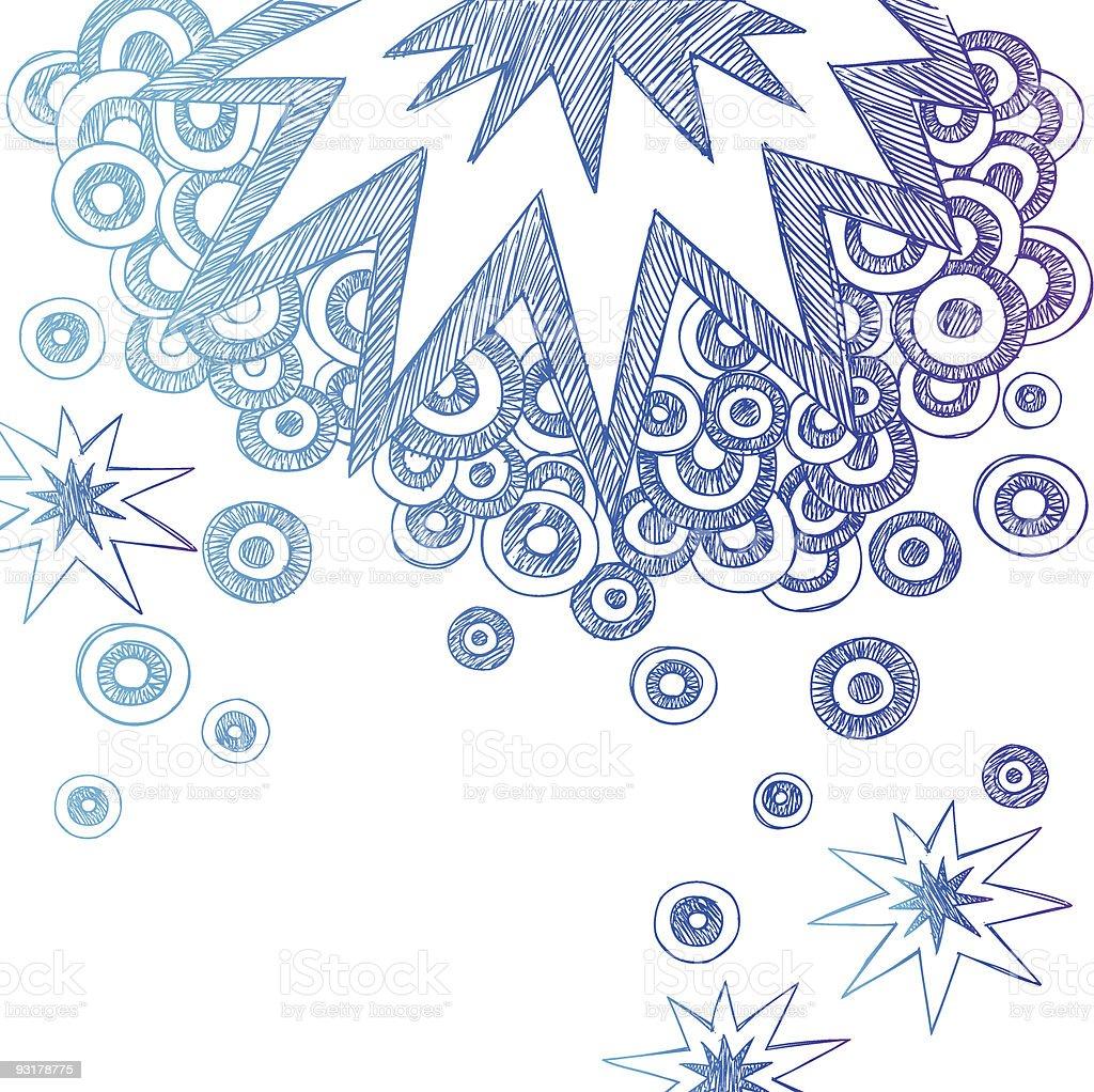 Hand-Drawn Sketchy Doodle Starburst vector art illustration