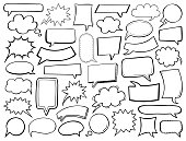istock Hand-drawn speech bubbles 1276374700