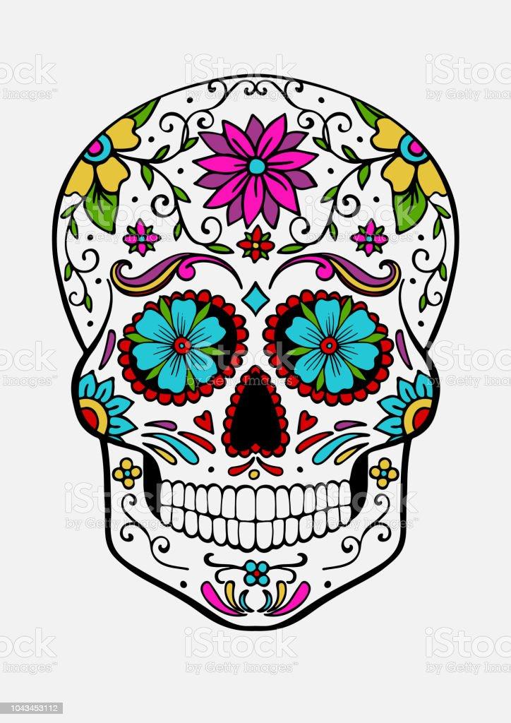 Handdrawn Sugar Skull Stock Illustration Download Image Now Istock