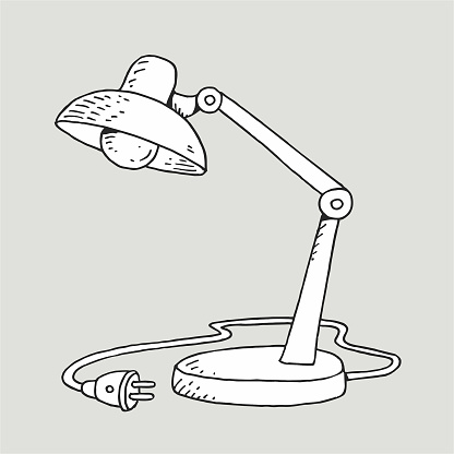 Hand-drawn table lamp