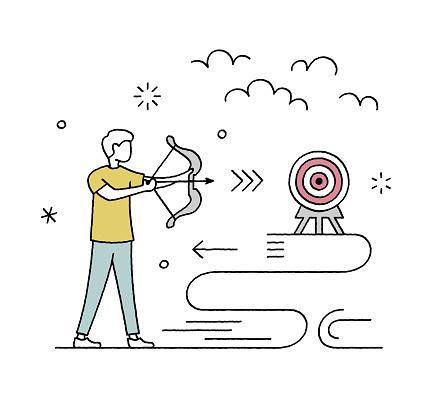 Hand-drawn Target Market Vector Illustration