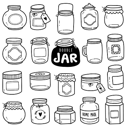 Hand-drawn Vector Collection: Jars