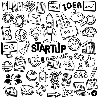 Hand-drawn Vector Collection: Startup