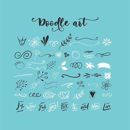 Handdrawn vector doodles