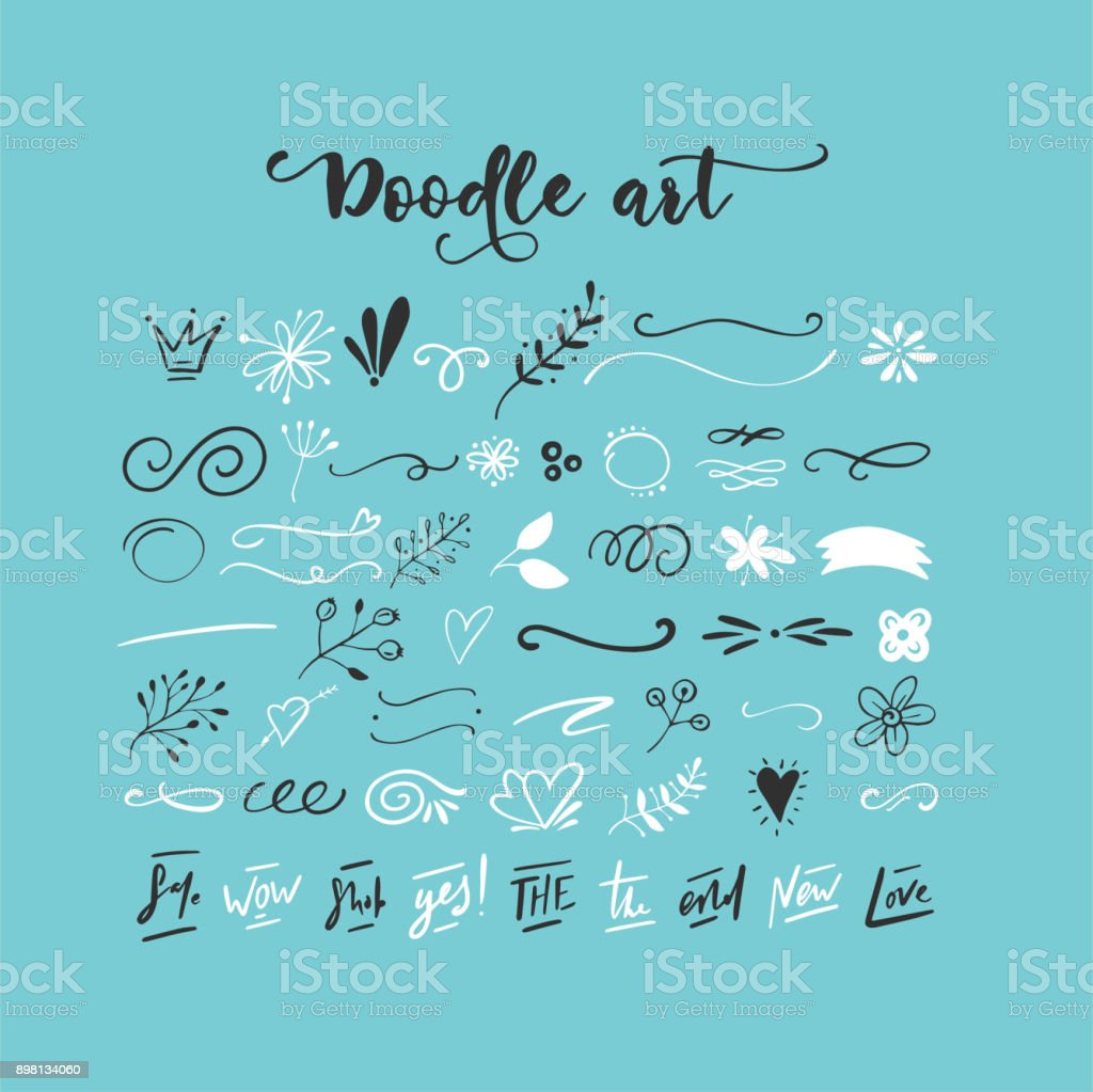 Handdrawn vector doodles vector art illustration