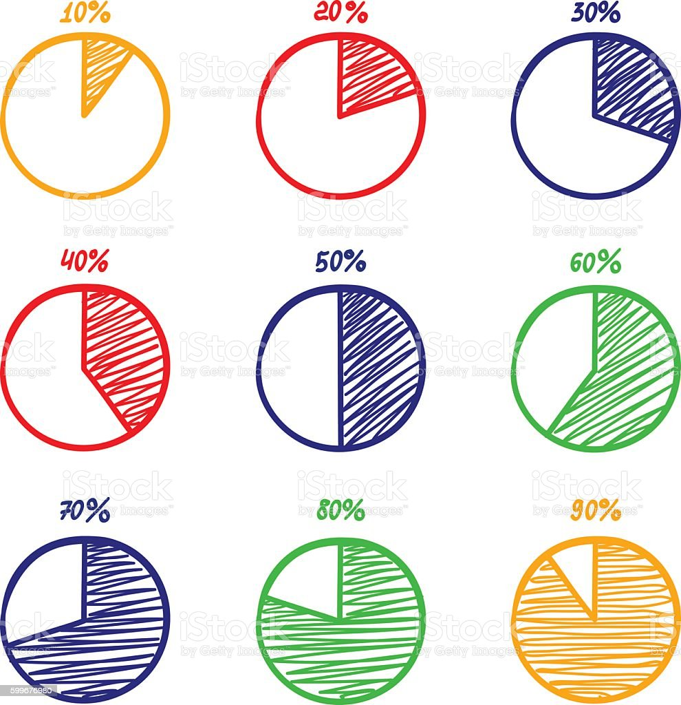 Handdrawn vector felttip pen pie chart icons set stock vector art hand drawn vector felt tip pen pie chart icons set royalty free handdrawn nvjuhfo Image collections