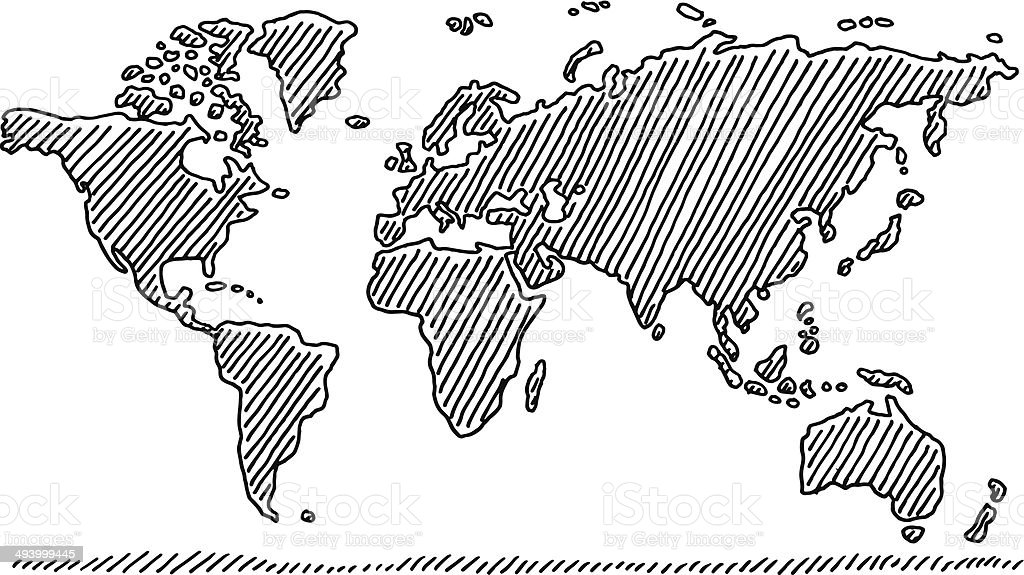 Handdrawn world map in black stock vector art more images of hand drawn world map in black royalty free handdrawn world map in black stock gumiabroncs Gallery